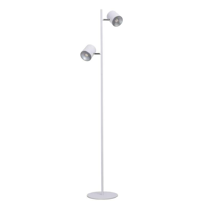 Lampadar alb cu doua brațe Karl, 140x23 cm, metal/ aluminiu, alb poza