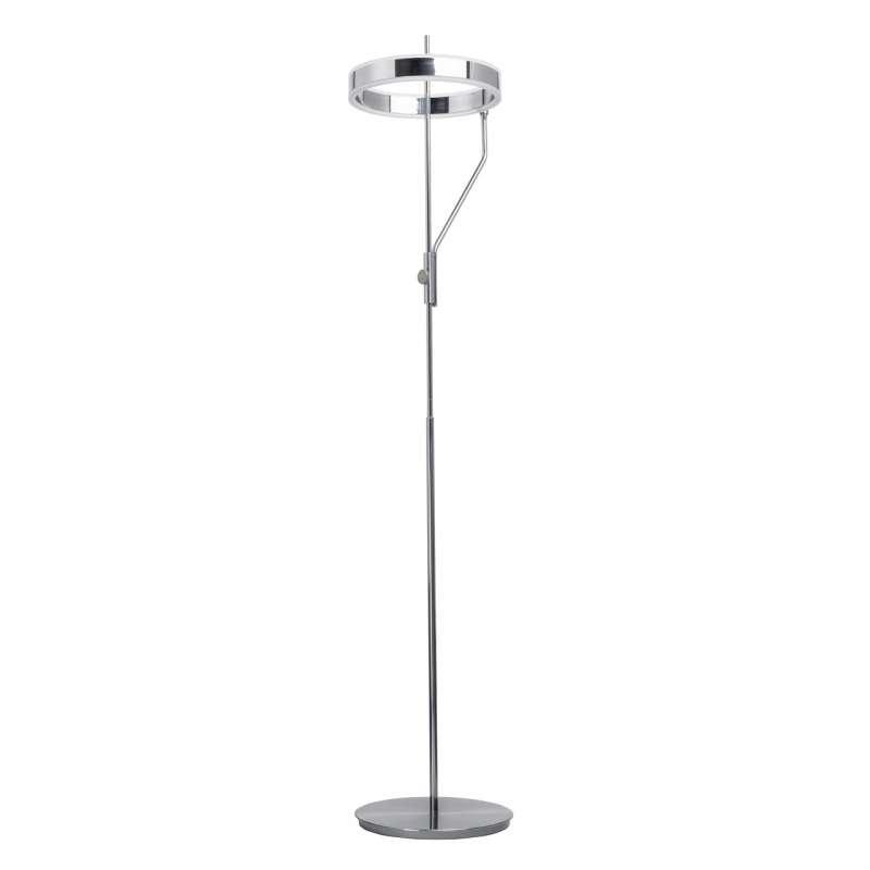 Lampadar argintiu cu LED Marc, 159x40 cm, metal/ acril, crom poza