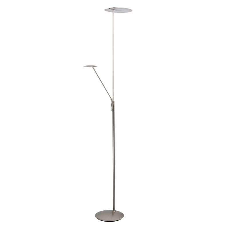 Lampadar metalic cu LED argintiu Pedro, 183x27 cm, metal/ acril, argintiu poza