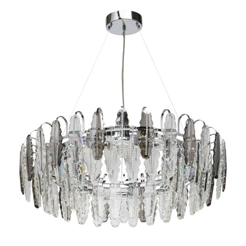 Lustră cu cristale Mimi, 230x80 cm, metal/ cristal, crom poza