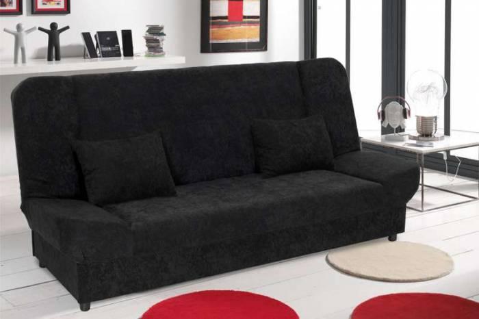 Canapea extensibilă de 3 locuri Tiko Black