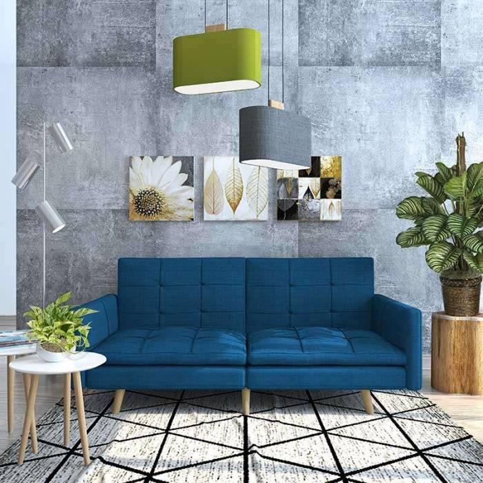 Canapea extensibilă de 3 locuri Vivian Blue