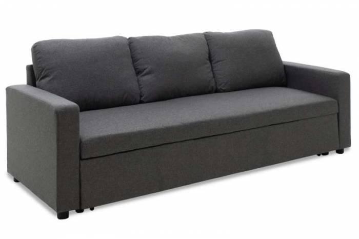 Canapea gri închis extensibilă Cordis