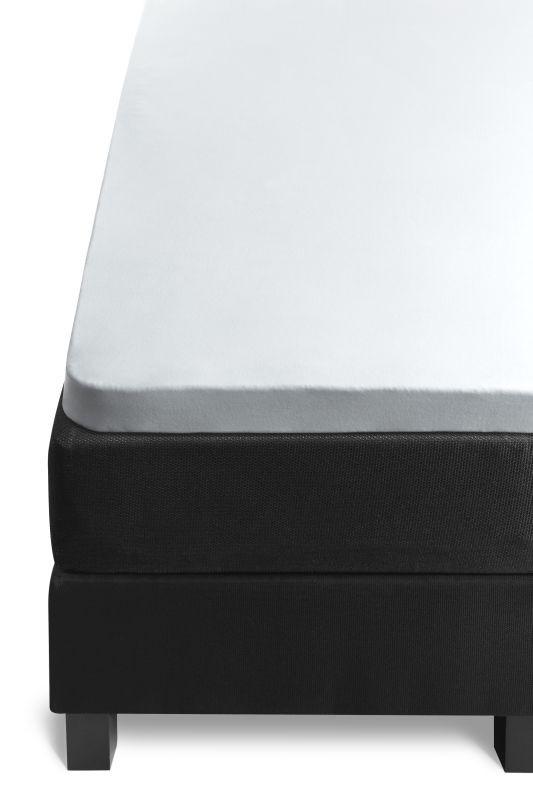 Cearceaf alb de pat din bumbac elastic 80x200 cm Jersey White