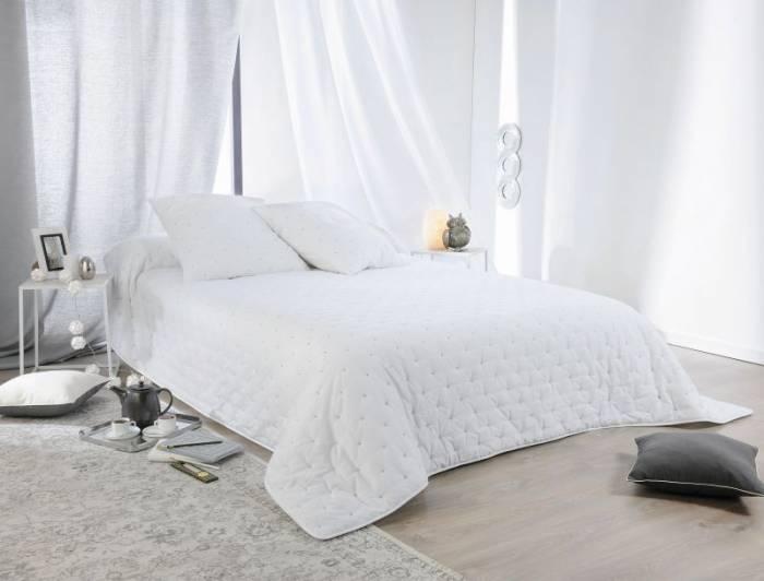 Cuvertură albă Leonie 230x250 cm