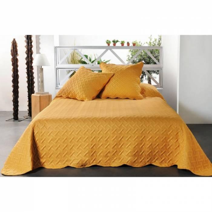 Cuvertură de pat galben închis Californie 230x250 cm