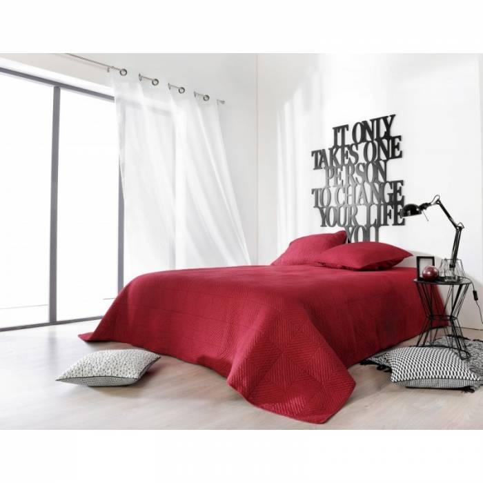 Cuvertură de pat roșie Alexia 230x250 cm