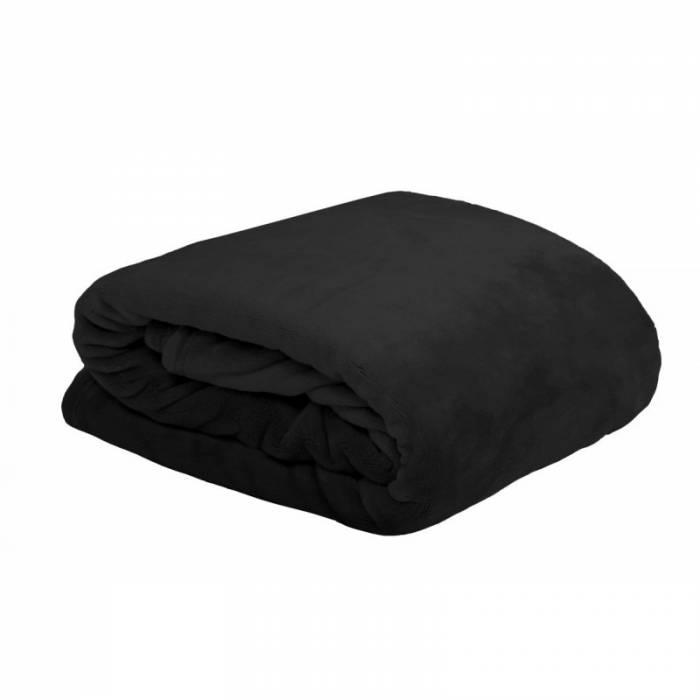 Cuvertură neagră de pat pufoasă Doudou Noir 180X220 cm