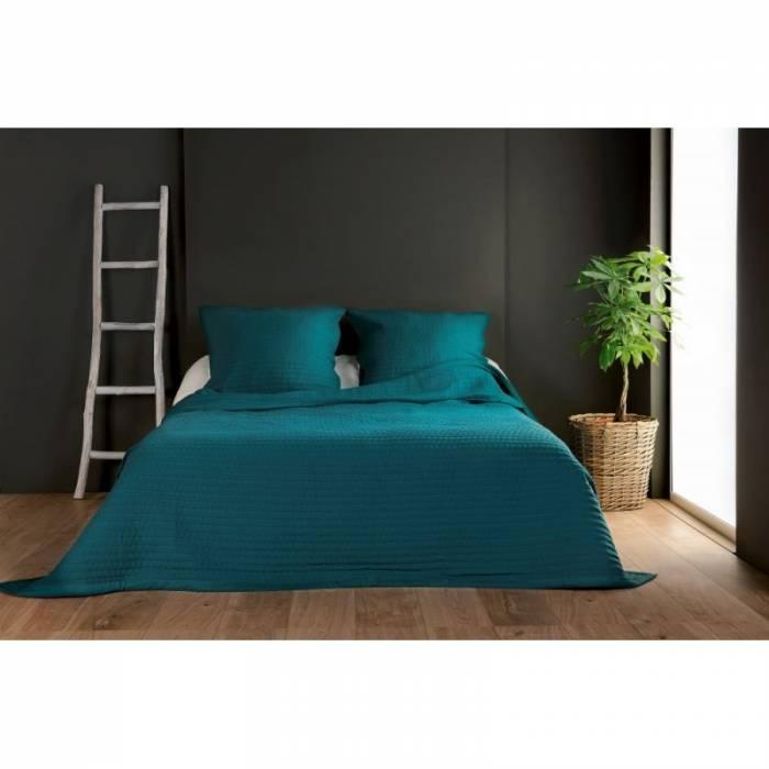 Cuvertură turcoaz uni de pat Riviera 230x250 cm