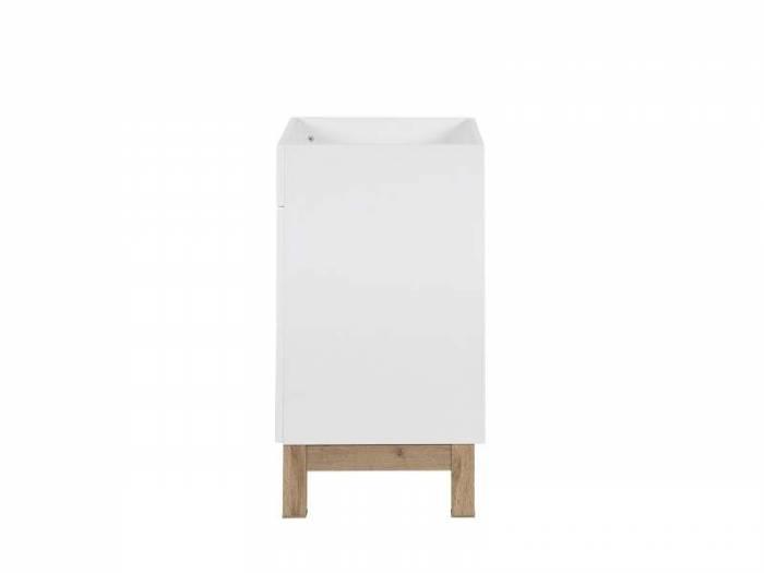 Dulap de baie pentru lavoar Bali White 84x60x45 cm, pal, alb/ maro