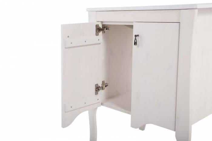 Dulap de baie pentru lavoar Elisabeth 80x59x44 cm, lemn, alb
