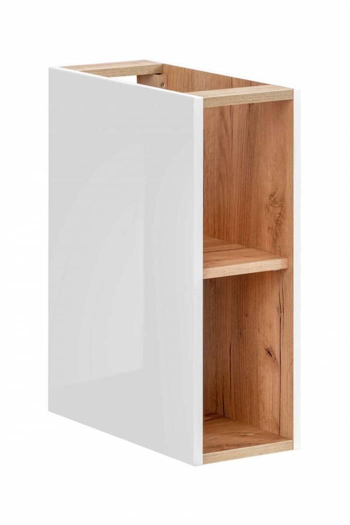 Dulap inferior Capri White, 20x57x44 cm, pal, maro/ alb