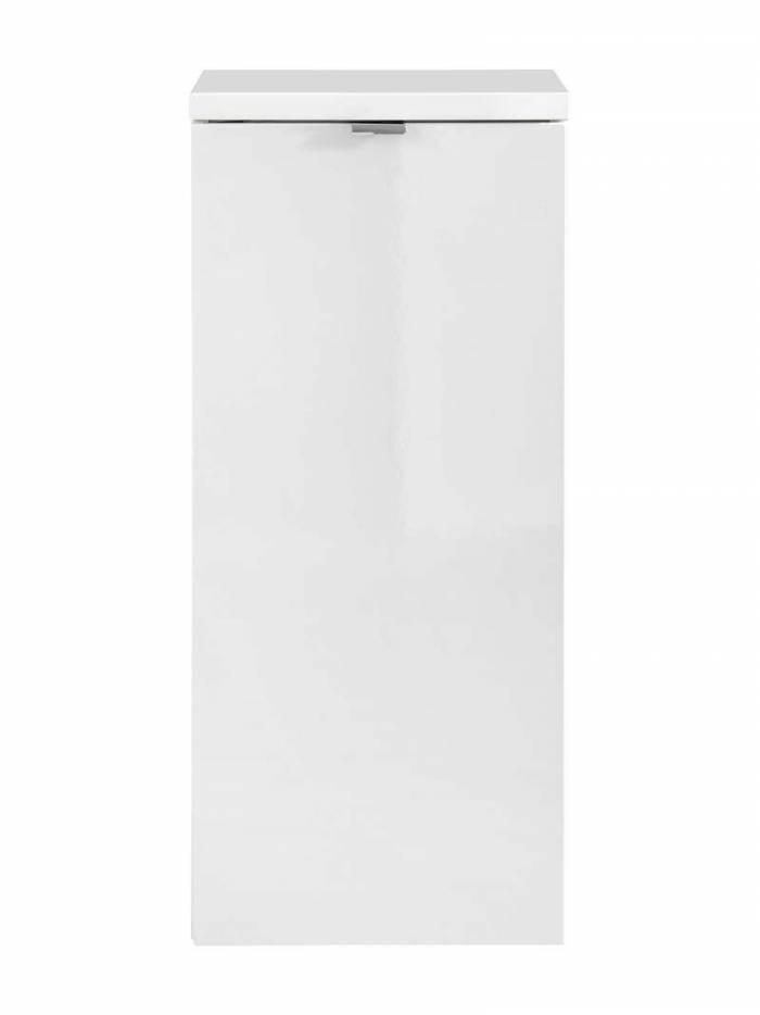 Dulap suspendat cu o ușă Capri White, 35x80x35 cm, pal, maro/ alb
