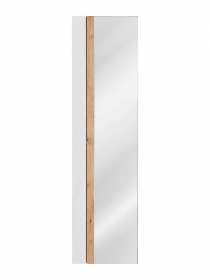 Dulap suspendat cu oglindă Capri White, 45x170x33 cm, pal, maro/ alb