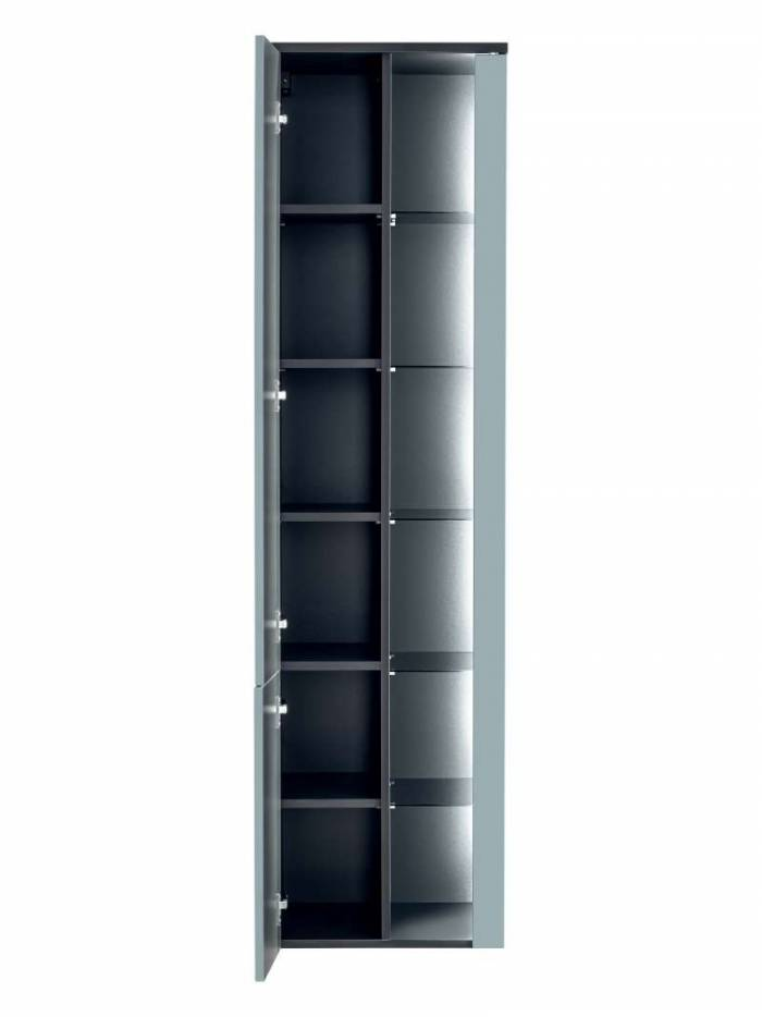 Dulap suspendat înalt Bahama Mint, 170x45x33 cm, pal/ mdf, albastru/ antracit