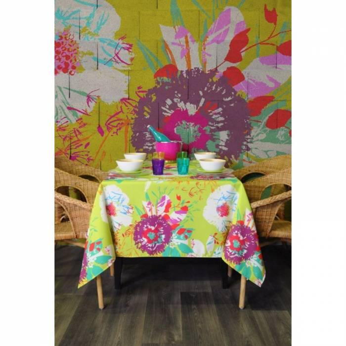 Față de masă cu model floral Juanita 155x250 cm