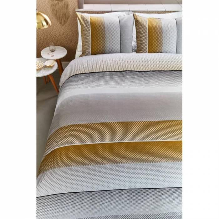 Lenjerie de pat galbenă Lenox Sand 200x200/220 cm