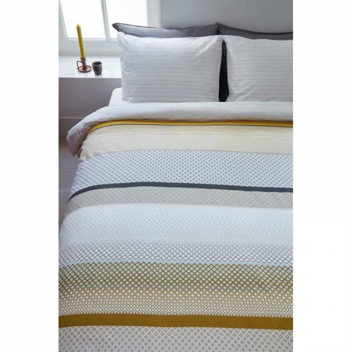 Lenjerie de pat galbenă Liva Yellow 200x200/220 cm