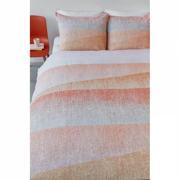 Lenjerie de pat portocalie Cascadas Corail 200x200/220 cm