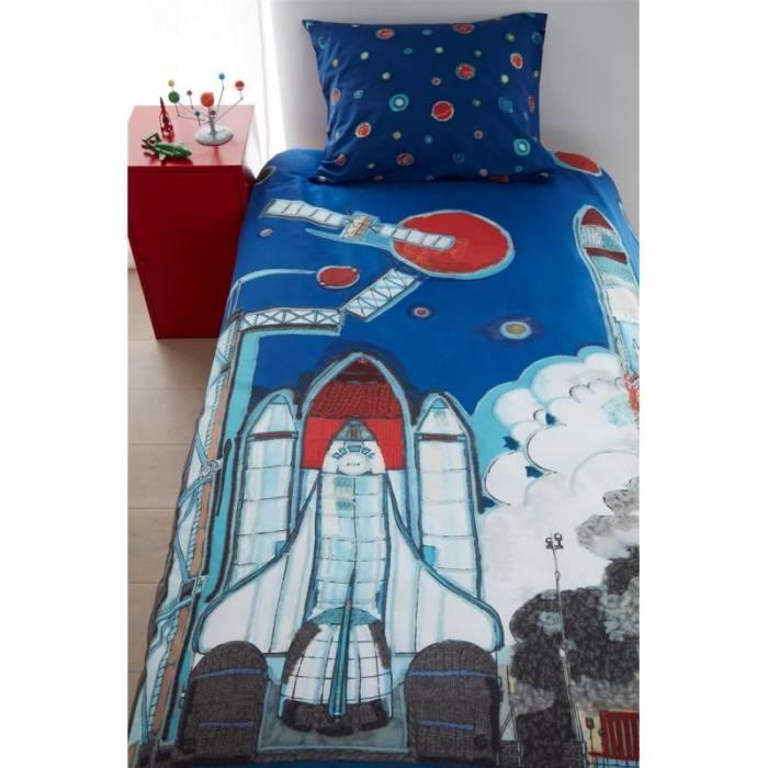 Lenjerie de pat Rocket Ship Blue 140x200/220 cm