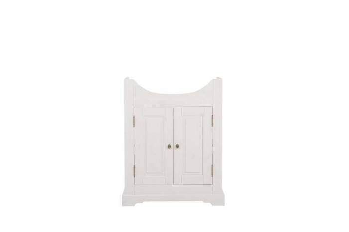 Mască lavoar Romantic 81x66x32 cm, lemn, alb