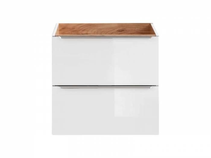 Masca pentru lavoar Capri White, 60x57x46 cm, pal, maro/ alb