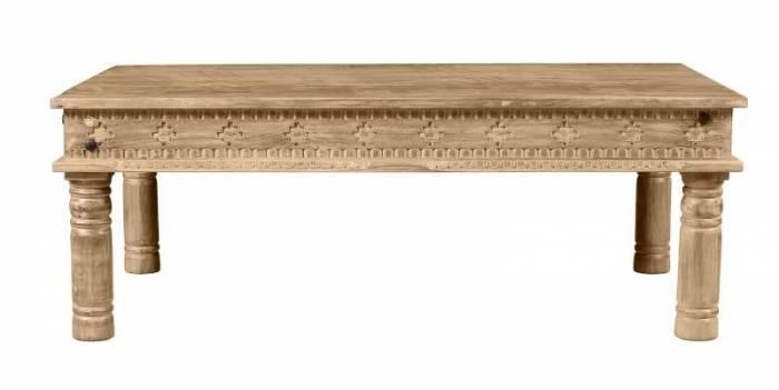 Măsuță de cafea blat dreptunghiular Lakadee, 40x70x120 cm, mango, maro
