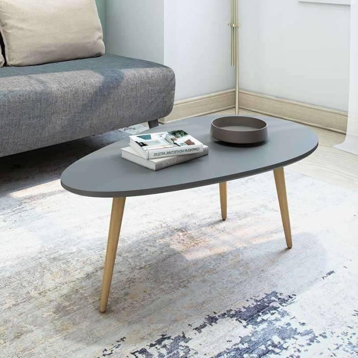 Măsuță de cafea Kristy Grey 89x48x33 cm