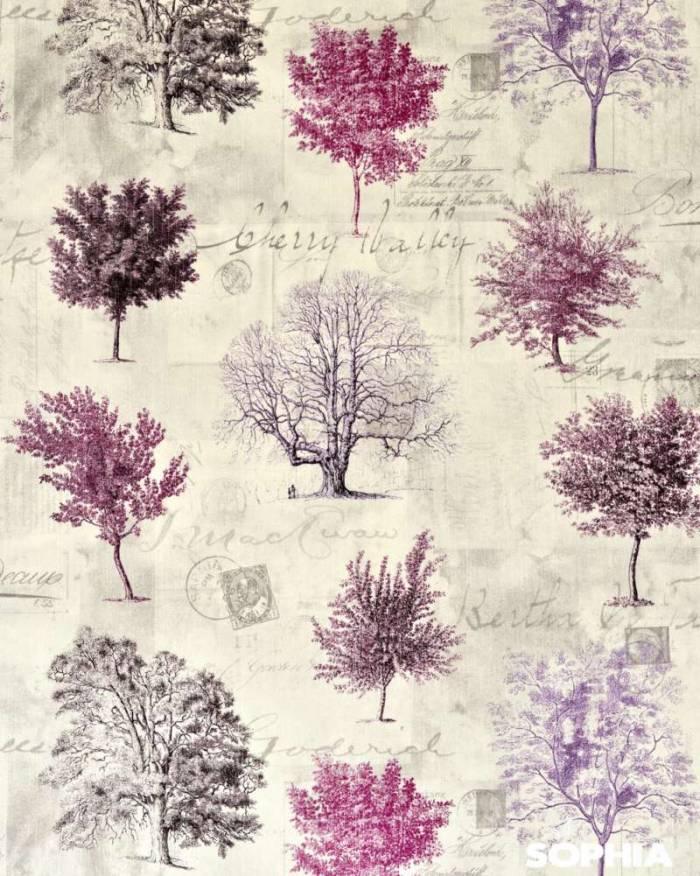 Material draperie Arborea Purple