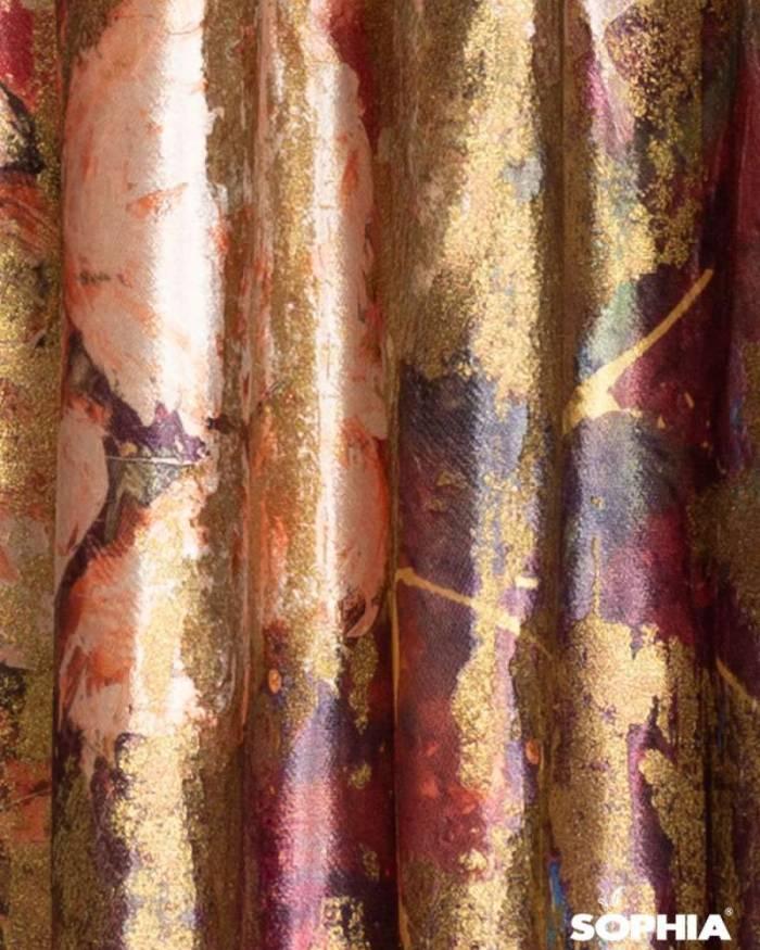 Material draperie Cinque Terre, flori apus de soare