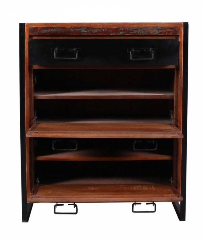 Pantofar, 96x40x80 cm, lemn/metal, multicolor