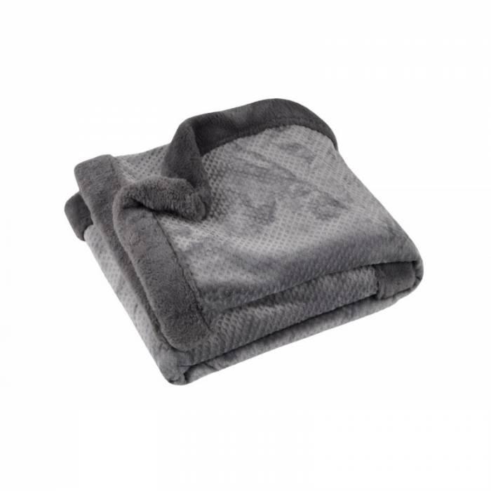 Patură pufoasă gri închis Fluff Anthracite 130x160 cm
