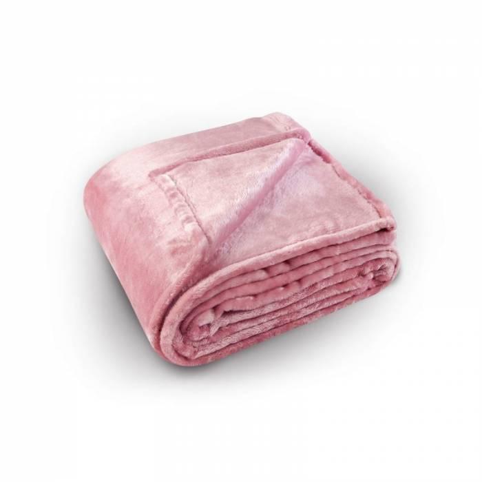 Pătură roz pufoasă Pilonga 220x240 cm