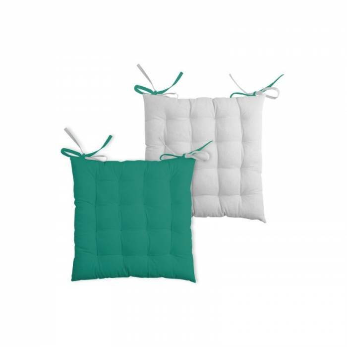 Perna pentru scaun verde Duo Galette Emeraude Perle 40x40 cm