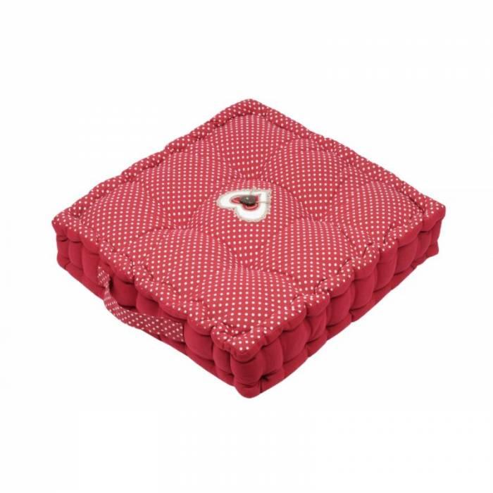 Pernă roșie de podea Lyna Rouge