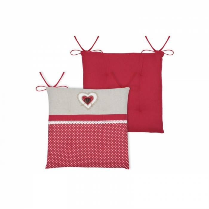 Pernă roșie pentru scaun Lyna Rouge 38x38x1.5 cm
