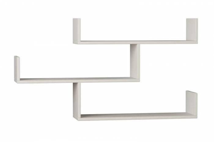 Rafturi de perete Janie de culoare albă din PAL