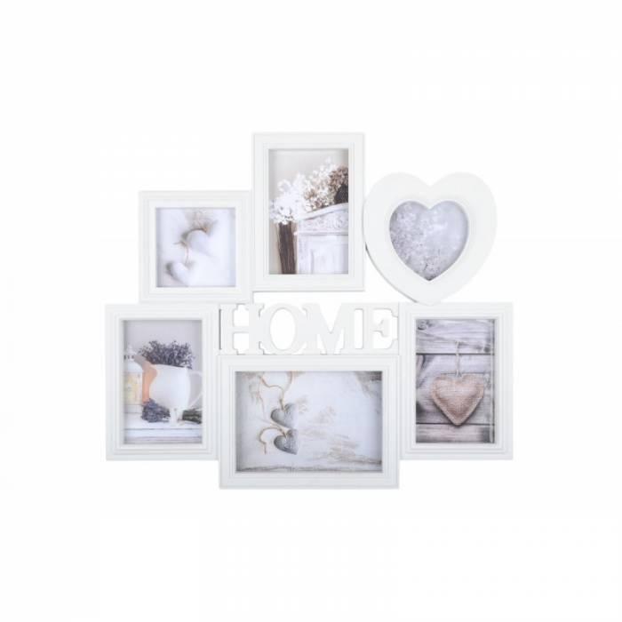 Ramă albă foto Home Charline 45x40 cm