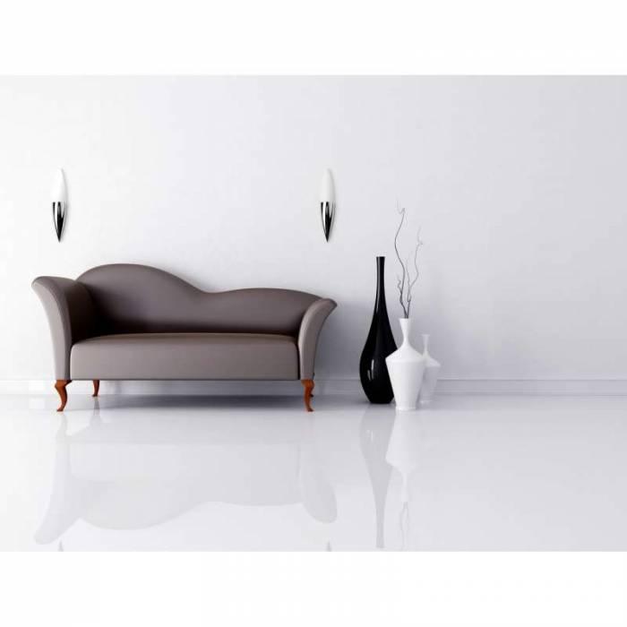 Aplică de perete Alda, 8x8x38 cm, metal/ sticla, crom