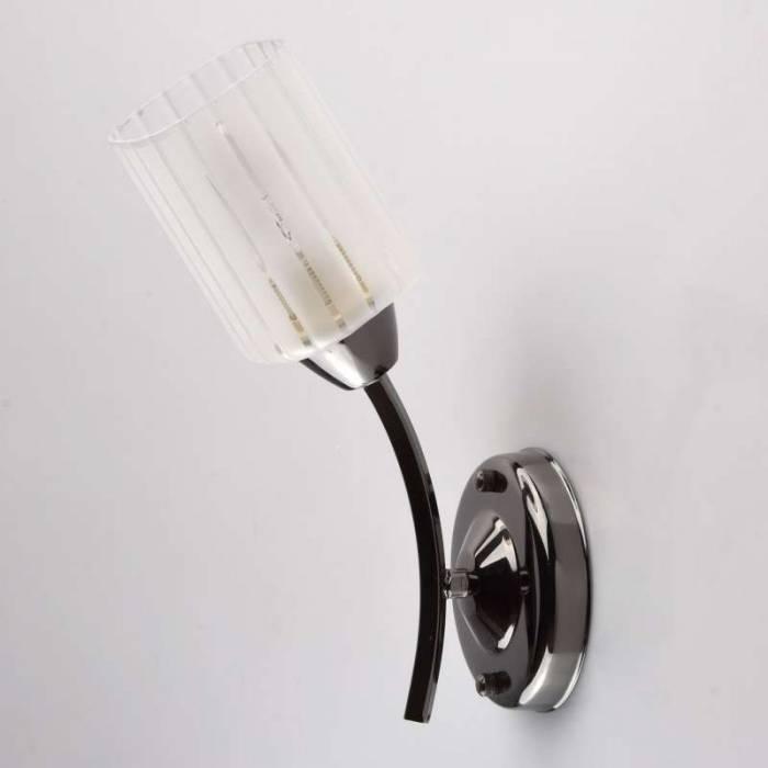 Aplică de perete Briana, 16x11x29 cm, metal/ sticla, negru