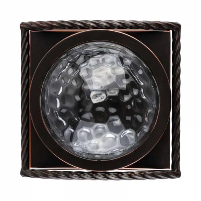 Aplică de perete Jake, 12x25x25 cm, metal/ sticla, maro