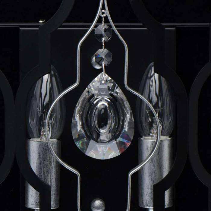 Aplică metalică neagră Lyon