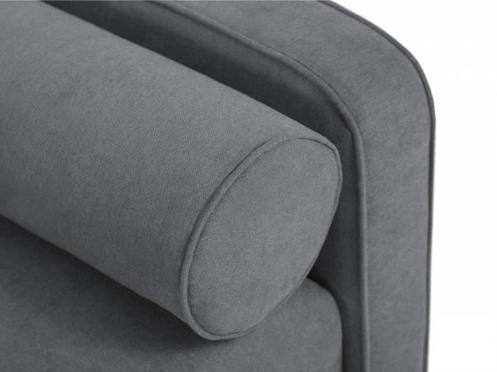 Canapea extensibilă Alessia, 3 locuri, gri închis, 212x93x89 cm