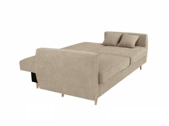 Canapea extensibilă cu spațiu de depozitare Sydney, 3 locuri, bej, 231x98x95 cm