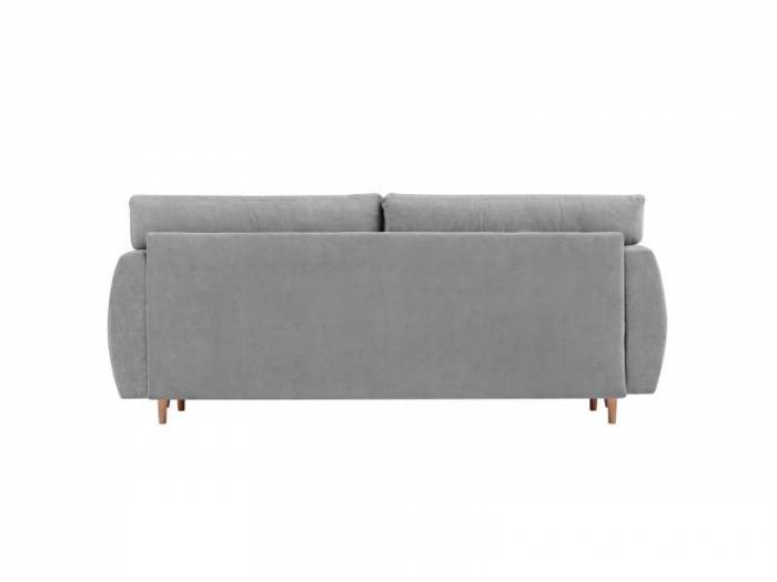 Canapea extensibilă cu spațiu de depozitare Sydney, 3 locuri, gri, 231x98x95 cm