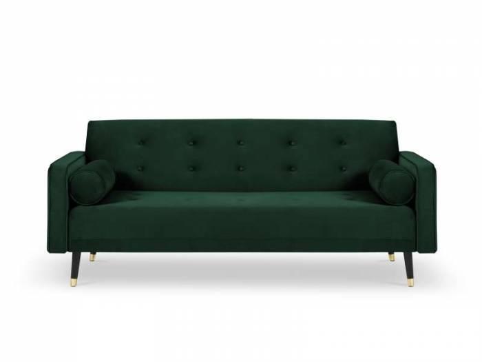 Canapea extensibilă Gia, 3 locuri, verde, 212x93x89 cm