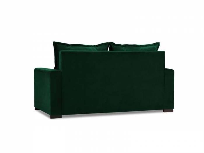 Canapea extensibilă Nila 2 locuri , 88x98x166 cm, catifea/ lemn de fag/ lemn de pin/ pal/ placaj, verde