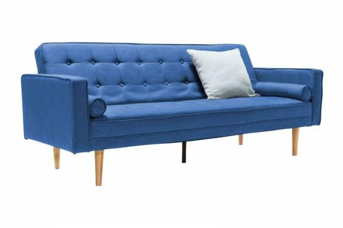 Canapea extensibilă Perris 205x84x86 cm, textil, albastru