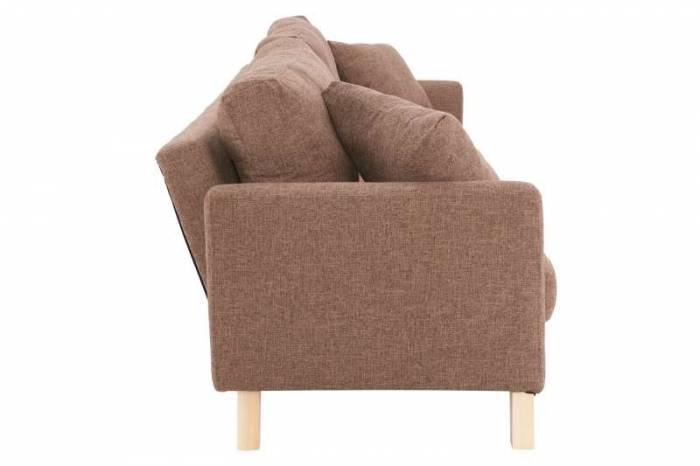 Canapea extensibilă Picket 216x88x87 cm, textil, maro