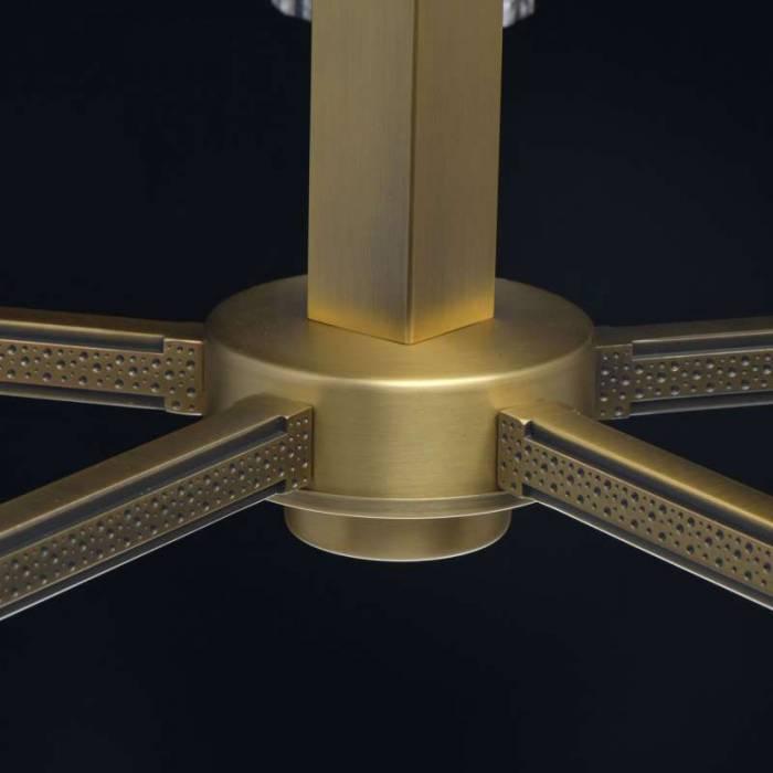 Candelabru auriu cu 5 becuri Sierra